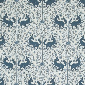 Curtain Fabric Upholstery Fabric Blue curtain fabric Cocoon Home Forbidden Fruit