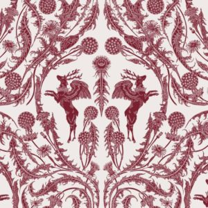 Curtain Fabric Upholstery Fabric Red curtain fabric Cocoon Home King Peryton