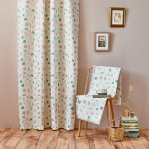 Curtain Fabric Upholstery Fabric Modern Green Blue curtain fabric Cocoon Home Campbell