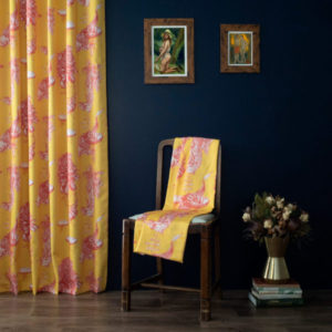 Curtain Fabric Upholstery Fabric Green Blue curtain fabric Cocoon Home High Life