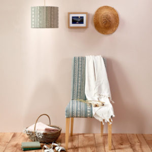 Curtain Fabric Upholstery Fabric Green Blue curtain fabric Cocoon Home Kuba Cloth