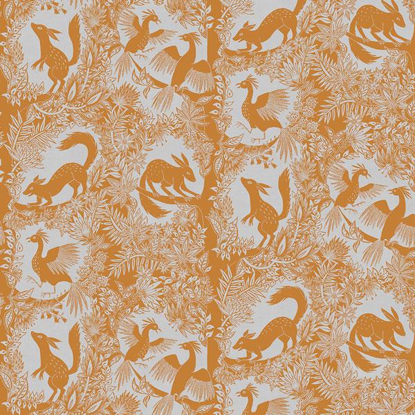 Curtain Fabric, Cocoon Home, Orange Curtain Fabric, Upholstery Fabric, Orange Upholstery Fabric